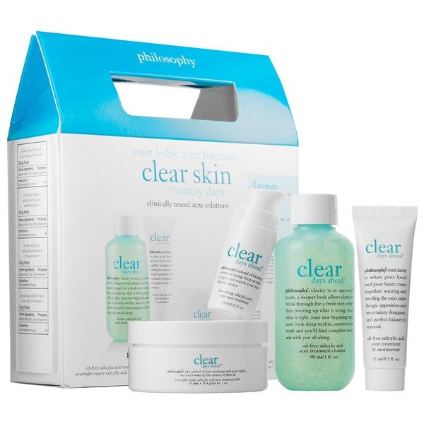 Clear Days Ahead Trial Kit Philosophy Sephora Whiteheads Whiteheads Remedy Acne Solutions