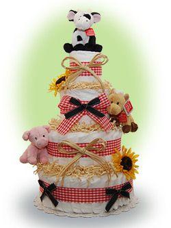 farn aniaml cakes  | Farm Animal Diaper Cake | Flickr - Photo Sharing!
