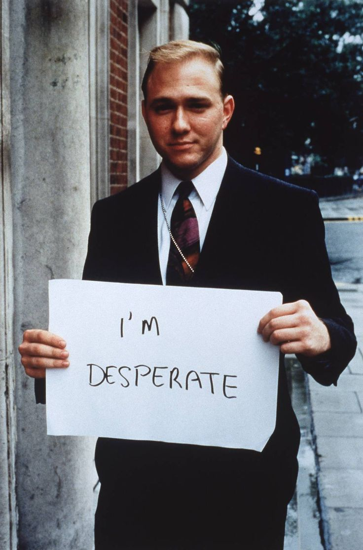 Gillian Wearing OBE ''I'm desperate'', 1992–3 © Gillian Wearing, courtesy Maureen Paley/ Interim Art, London