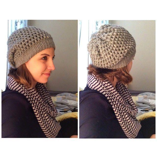 Puff Stitch Slouchy Beanie Crochet Tutorial Crochet
