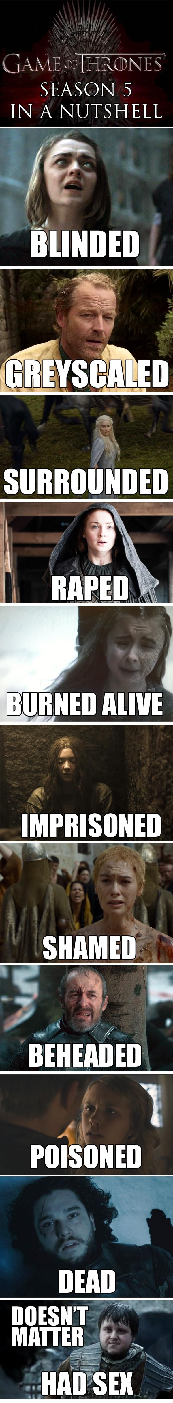 Game of Thrones Season 5 in a Nutshell - Imgur