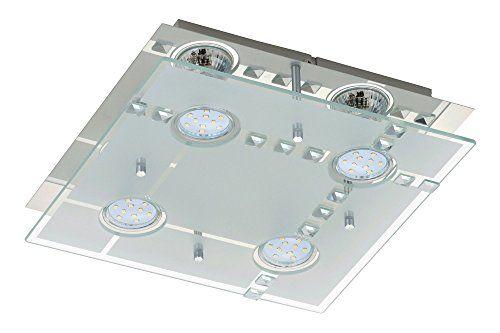 4-flg. in Quadrat Design LED Deckenleuchte Deckenlampe Bad TG3177 inkl. 4x GU10 LED Leuchtmittel direkt 230V Trango - http://led-beleuchtung-lampen.de/4-flg-in-quadrat-design-led-deckenleuchte-deckenlampe-bad-tg3177-inkl-4x-gu10-led-leuchtmittel-direkt-230v-trango/ #BadDeckenleuchten #TG3177, #Trango