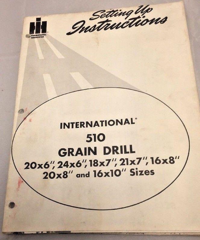 international 10 grain drill manual