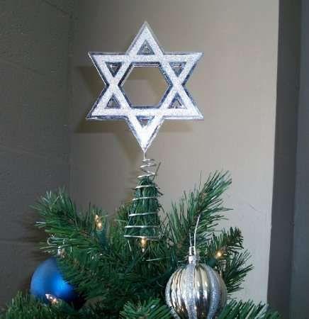 The Hanukkah Christmas Tree Topper Merges Faiths #christmas #ornaments trendhunter.com