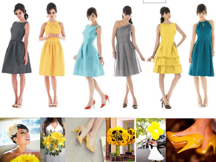Shades of Yellow Dresses