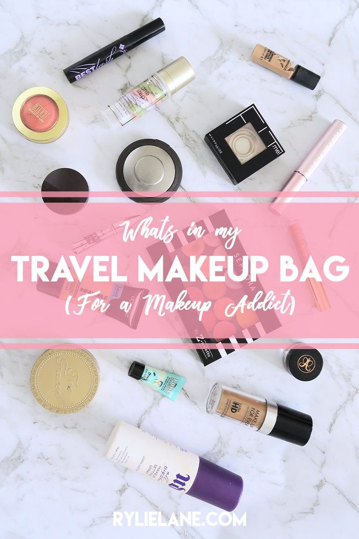 What's in my Makeup Travel Bag (for a Makeup Addict) | Rylie Lane