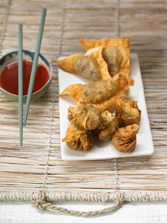 Asiatische Teigtaschen mit Hackfleisch und Gemüse