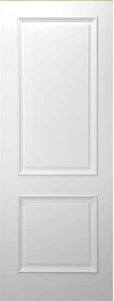 """CLEARANCE INTERIOR DOORS » 2 Panel Square Top White Primed with Raised Moulding (1- 3/4"""")"""
