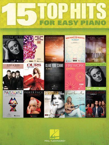 15 Top Hits for Easy Piano | Get new pianists started with these 15 pop hits that are easy to learn. $14.99 at WardBrodt.com. #ChristmasGifts #MusicLovers #ChristmasGiftsForMusicLovers