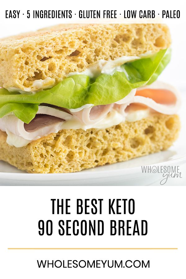Keto 90 Second Bread With Almond Flour Low Carb Recipe A Keto