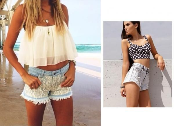 Crop top + shorts altos