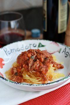 Skinnytaste Spaghetti Squash with Turkey Bolognese