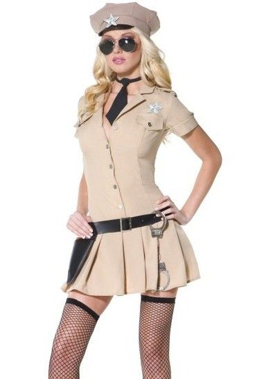7-piece Police Lady Cosplay Costume
