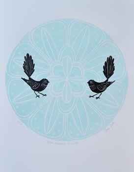 Blue fantail porohita - Annie Smits Sandano
