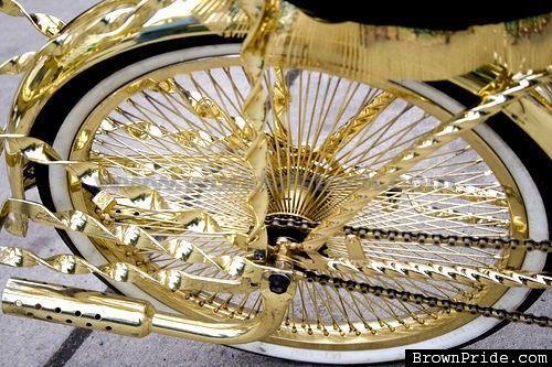 GOLD LOWRIDER BIKE RIMS