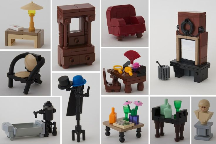 assorted interiors for our LEGO homes