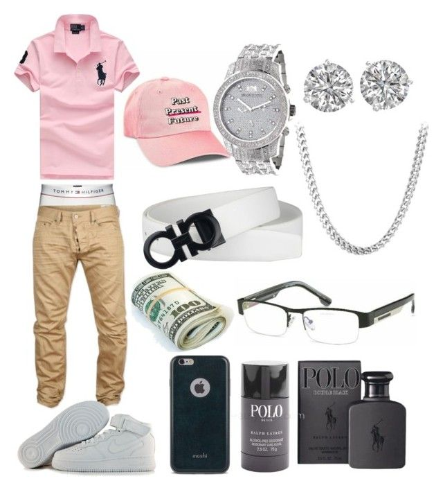 """""""Untitled #153"""" by hilfiger6ix ❤ liked on Polyvore featuring Polo Ralph Lauren, Moshi, NIKE, men's fashion and menswear"""
