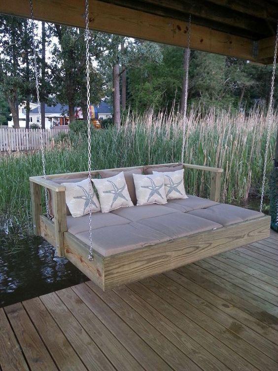 13 supertolle Schaukelbänke für Haus und Garten! - DIY Bastelideen