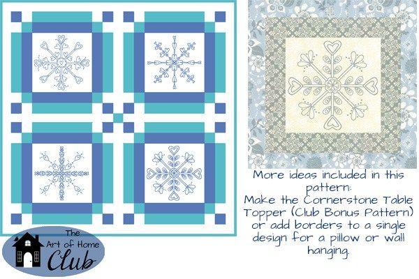 Snowflakes! Fun Ways to Enjoy The Art of Home Club! - Jacquelynne Steves
