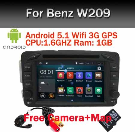 In Stock 7 inch 2 Din Car DVD Android 5.1 For Mercedes/Benz/W209/W203/W168/M/ML/W163/W463/W639/Vito/Vaneo Wifi GPS BT Radio