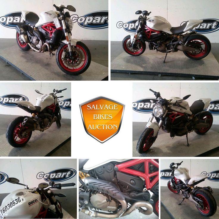 ¡Este Ducati Monster 821 2015 salvage estaba a la venta 4/8!    Ve que otros motos Ducati estan disponible en http://www.salvagebikesauction.com/es/make_by/Salvage-Ducati-for-Sale.    #salvage #motousada #ducatimonster821 #ducati #monster #venta #ducatimonster #moto #enventa #oferta #enlinea #motos #motosalvage #subasta