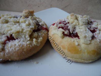 www.przepismamy.pl: Drożdżówki z truskawkami