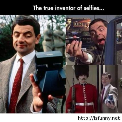 Mr Bean did it first selfie photos1 isfunny.net