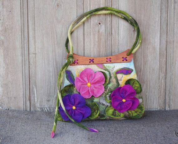 Designer felted bag large felt handbag shoulder bag with #Designerfeltedbag, #largefelthandbag, #filcAlki