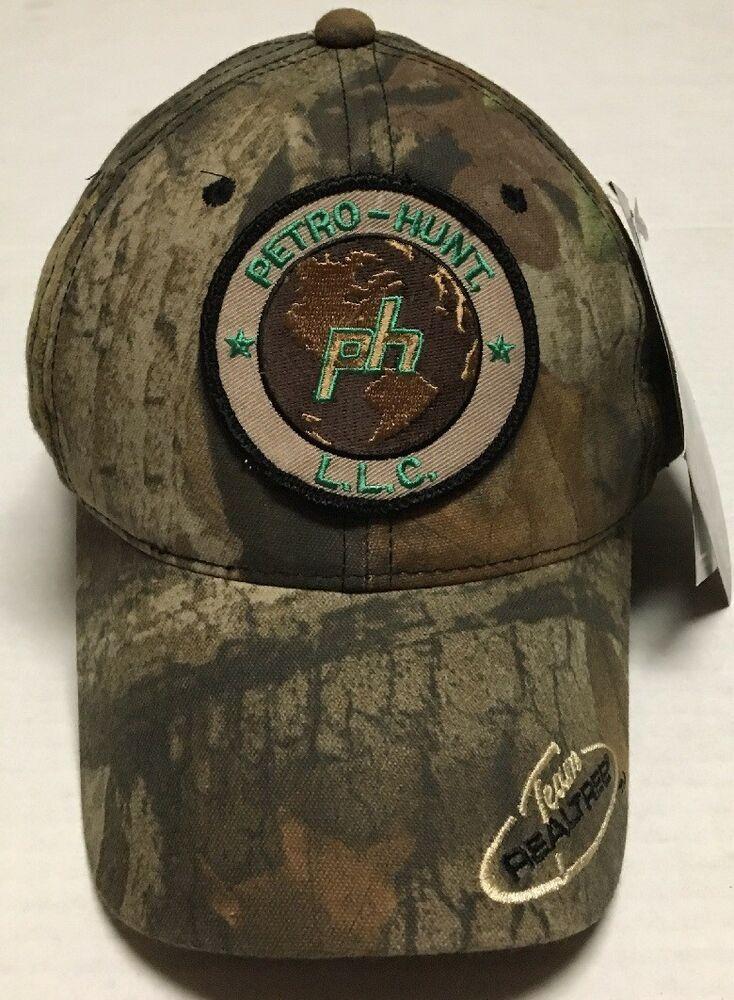 Petro Hunt Hat Oilfield Oil Gas Cap Dallas Texas Camo Hunting Petroleum Realtree Oc Baseballcap John Deere Hats Realtree Camouflage Hat