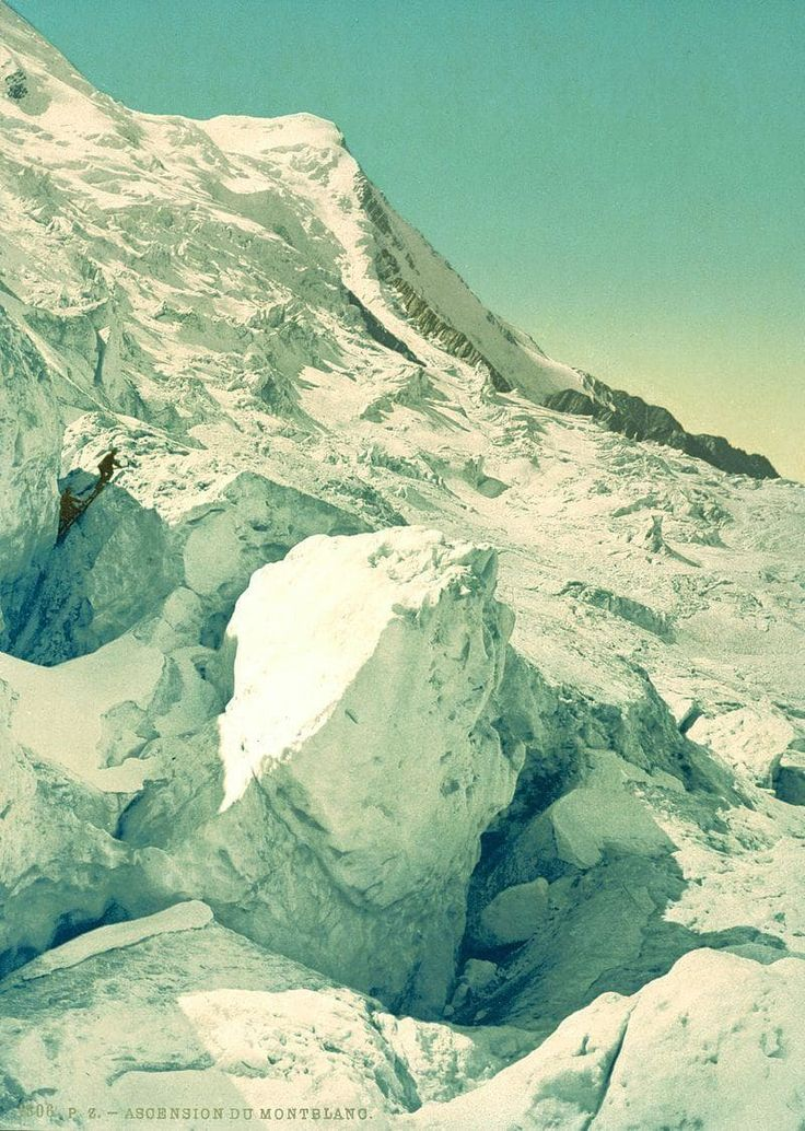 The first colour photographs of France - Climbing Mont Blanc / Ascension du Mont-Blanc  / Les premières photographies couleurs de la France