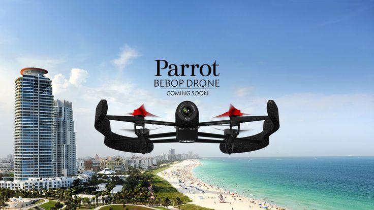 パロット社製 Bebop Drone. 頑丈な超軽量クアッドコプター、1400万画素の魚眼レンズカメラ、解像度:フルHD 1080p、スカイコントローラー、3軸ベースの画像スタビライザー