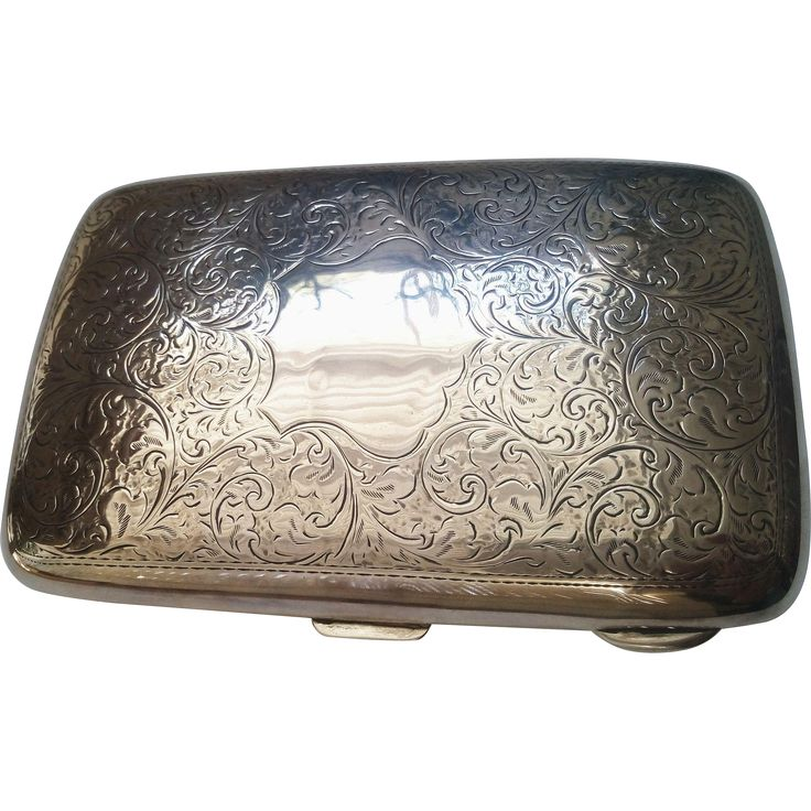 Sterling Silver Cigar Case Hallmarked Birmingham 1919
