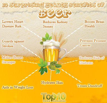 10 Healthy Benefits of Beer #beer #health #benefit #party