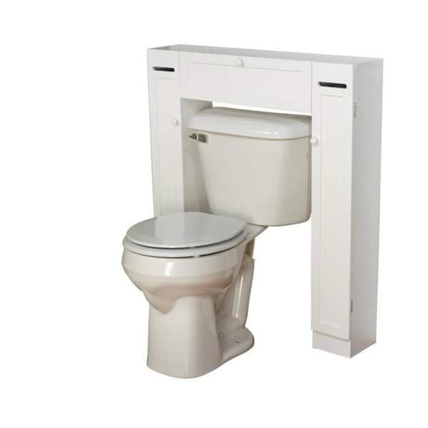 Simple Living Space Saver Over The Toilet Grey Gray Wood Bathroom Shelf Decor Over Toilet Bathroom Furniture