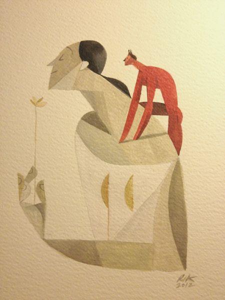 """""""Storia di due"""" by Riccardo Guasco, via Behance"""