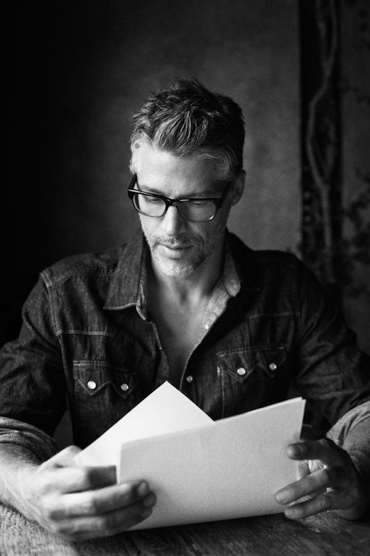 Handsome Grey Haired Man (Writer, perhaps?).