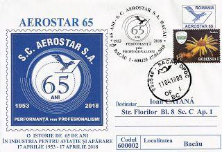 Bacăul economic: Plic filatelic la aniversarea Aerostar