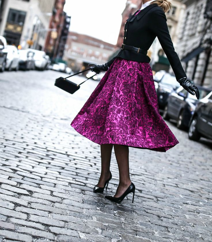 fuchsia-pink-magenta-jacquard-midi-skirt-dress-classic-tailored-double-breasted-black-jacket-brass-buttons-white-collar-nyc-blogger-classic-style6