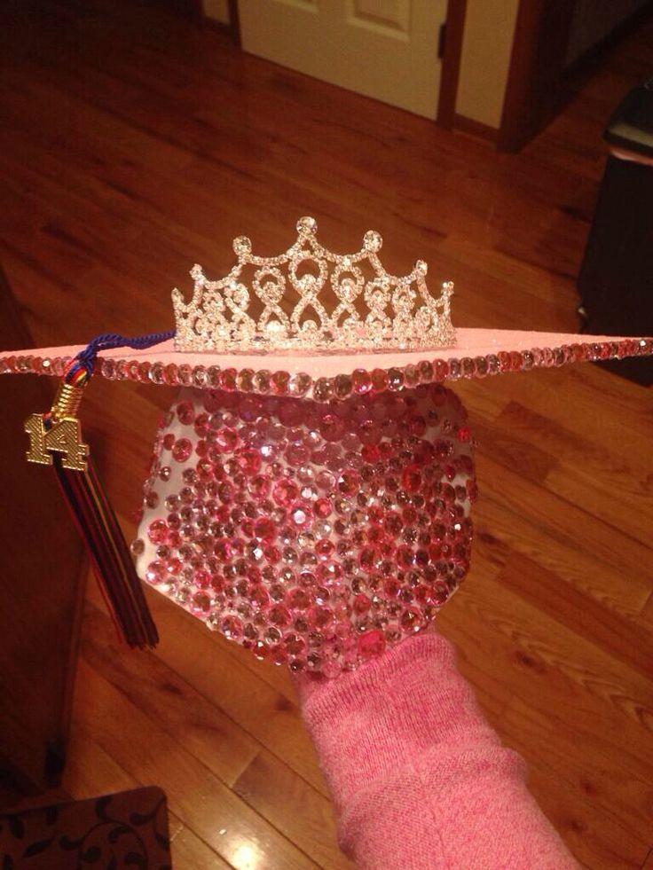 high school graduation picture board ideas - Princess tiara graduation cap
