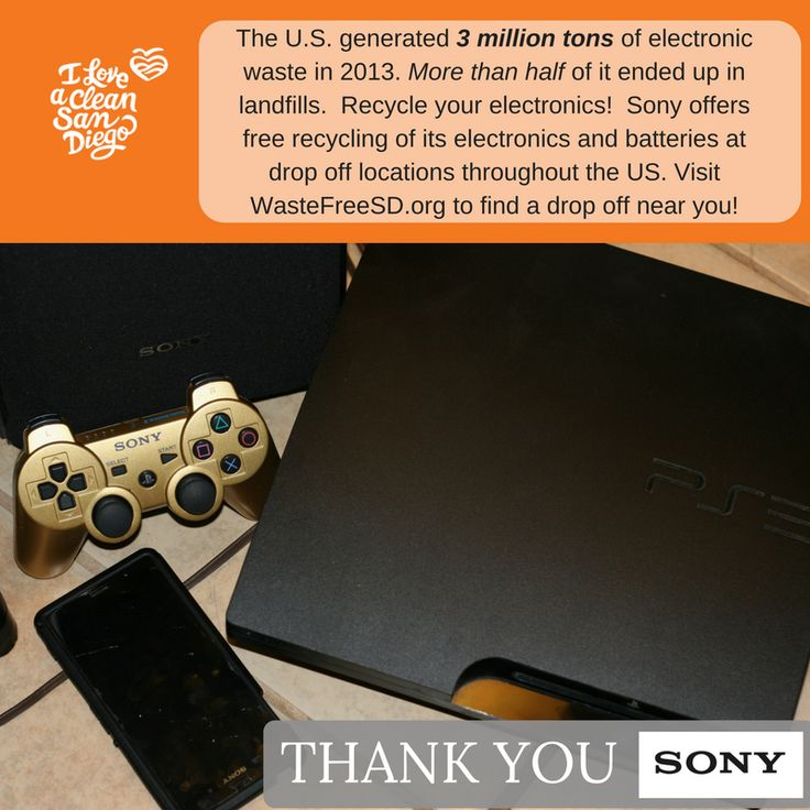 The U.S. generated 3 million tons of e-waste in 2013. More than half of it ended up in landfills.  Recycle your electronics! Visit WasteFreeSD to find a center near you. #BeRecycled