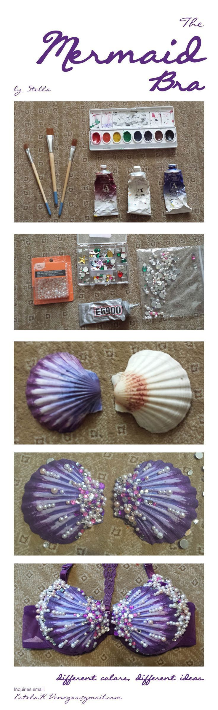 How to make a Mermaid Seashell Bra(How To Make Dress For Kids)