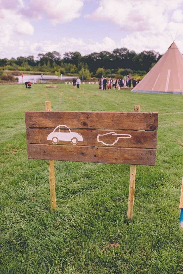 Sign Wood Wooden Car Park Chilled Festival Lavender Wedding http://storyandcolour.co.uk/