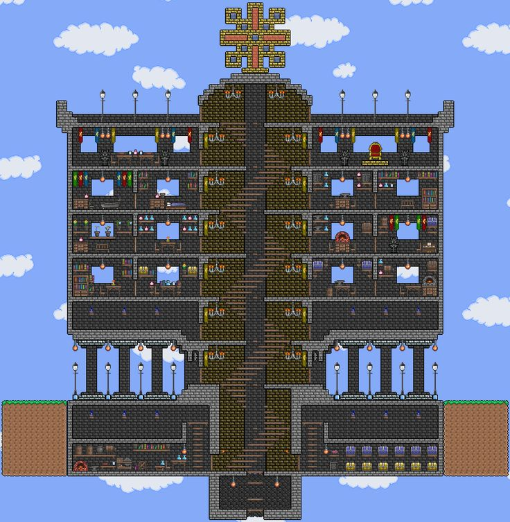 17 best images about terraria bases on pinterest house for Terraria house designs
