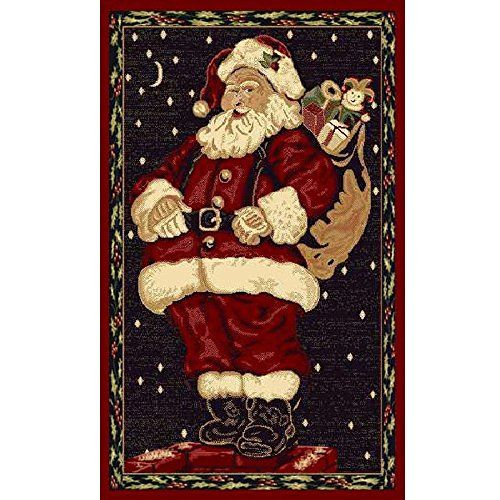 Christmas Rug Holiday Decor Carpet X Cleaning Instructions Vacuum Regularly Blot Stains With Soapy Water