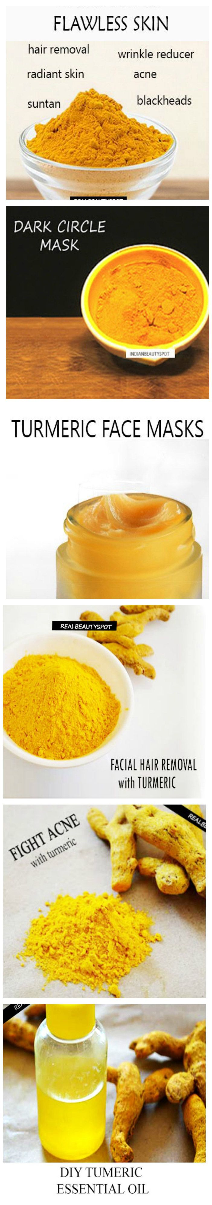 Turmeric for dark circles and whiten teeth