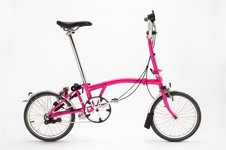 Brompton folding bike - Love this pink!