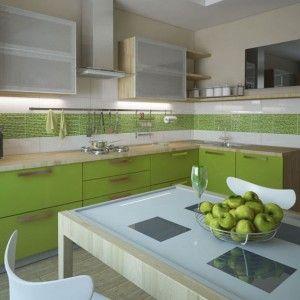 зеленый кухонный гарнитур угловой