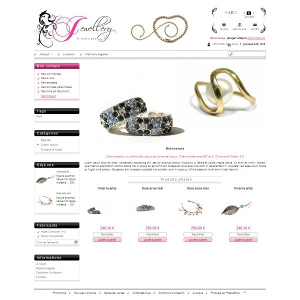 Jewellery shop template for prestashop Funny color theme for - kids menu templates