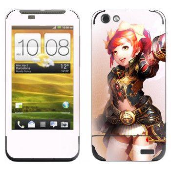 Виниловая наклейка «Lineage Гном» на телефон HTC One V