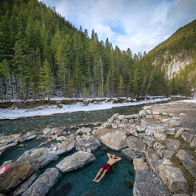Lussier Natural Hot Springs near Cranbook, BC  (photo by @chrisburkard via Instagram)  #exploreBC #exploreCanada